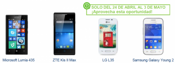 Oferta smartphone gratis