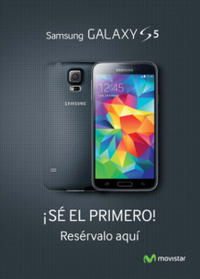 Reserva el nuevo Samsung Galaxy S5 libre en Barreu
