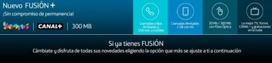 Fusión +, nuevo servicio de Movistar