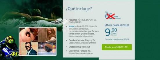 Oferta de Fusión Plus por 9,9 euros al mes hasta 2016