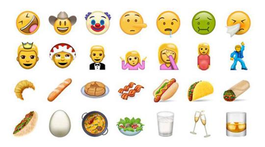 Los nuevos emojis que llegarán a nuestros móviles