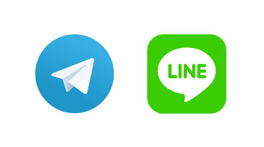 Telegram y Line, alternativas a Whatsapp