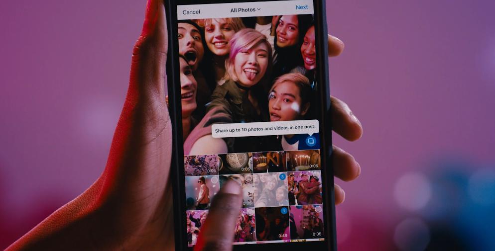 Cómo publicar multifoto en Instagram