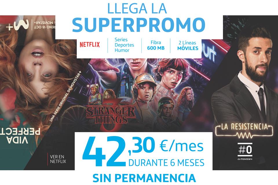 INTERNET + FIJO + MÓVIL + NETFLIX = 42,3€