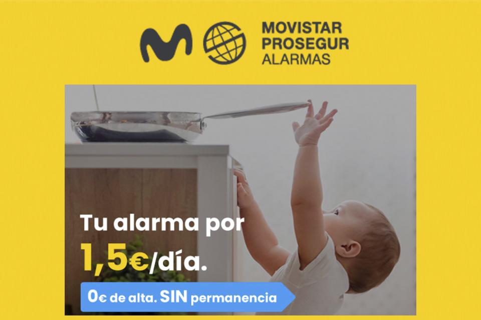 ¡PROTEGE TU HOGAR POR SOLO 1,5€ AL DÍA! con Movistar Prosegur Alarmas