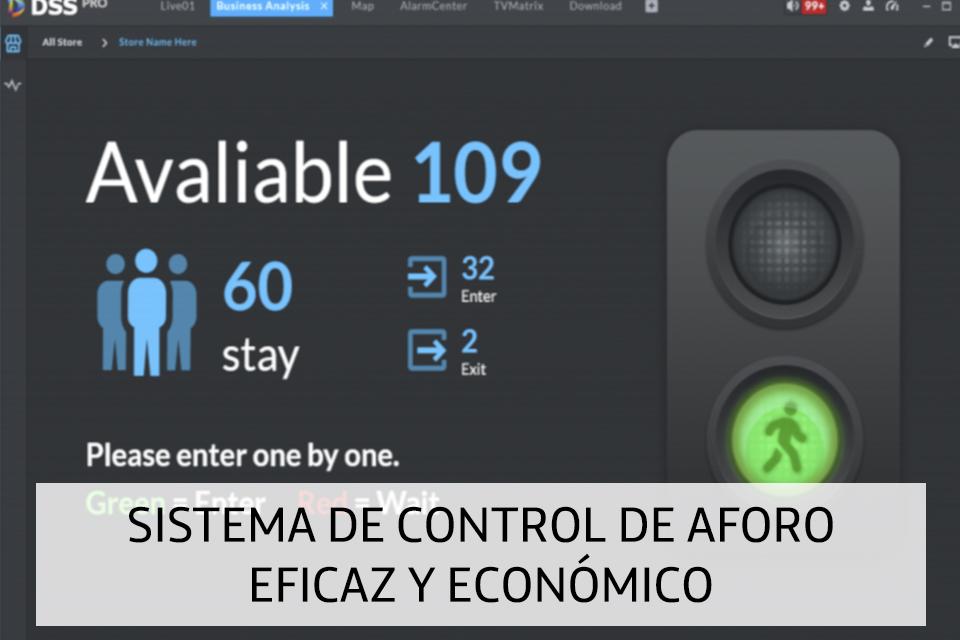 SISTEMA DE CONTROL DE AFORO EFICAZ Y ECONÓMICO