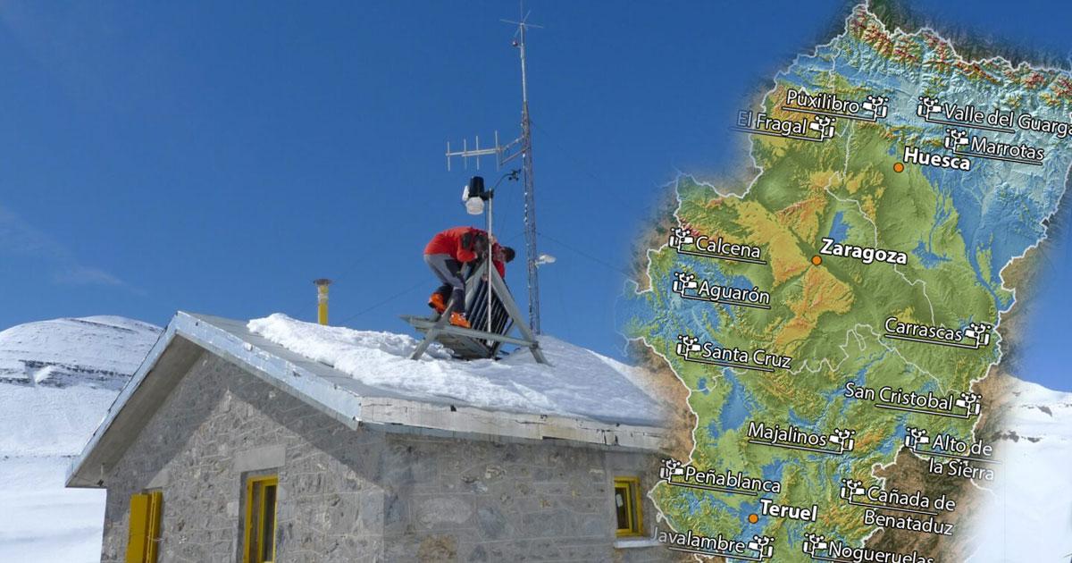Las 15 nuevas estaciones meteorológicas en Aragón