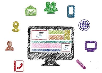Imagen decorativa: Dibujo de las herramientas de un empleado digital
